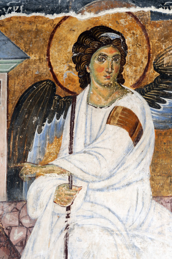 Fresco from The Mileseva Monastery in Serbia that was painted around 1230 AD
