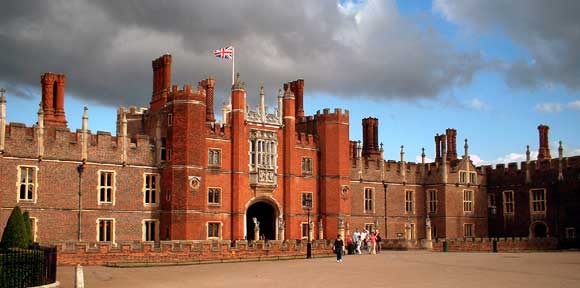 Hampton Court Palace UK built in 1514 for Cardinal Wolsey is reputedly very haunted