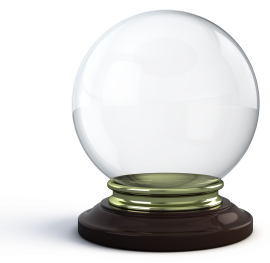 Gazing into a crystal ball is a form of divination