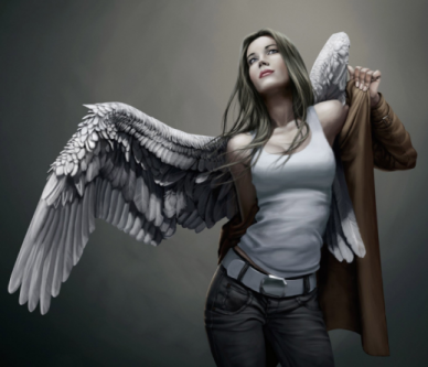 Do Angels Walk Among Us - Half girl, half angel - PsychicStudent.com