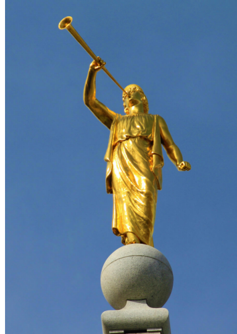 Angel Moroni is a symbol of the Mormon Church