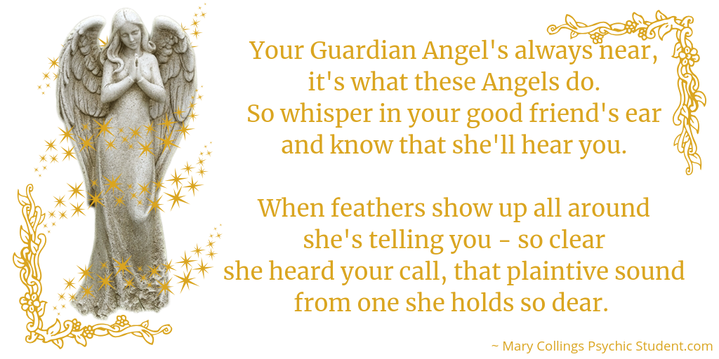 Guardian Angel poem by Mary Collings psychicstudent.com