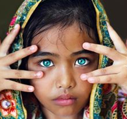 The study of eye colour is a form of divination