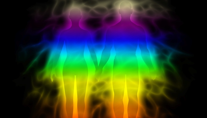 Our auras have beautiful rainbow colours